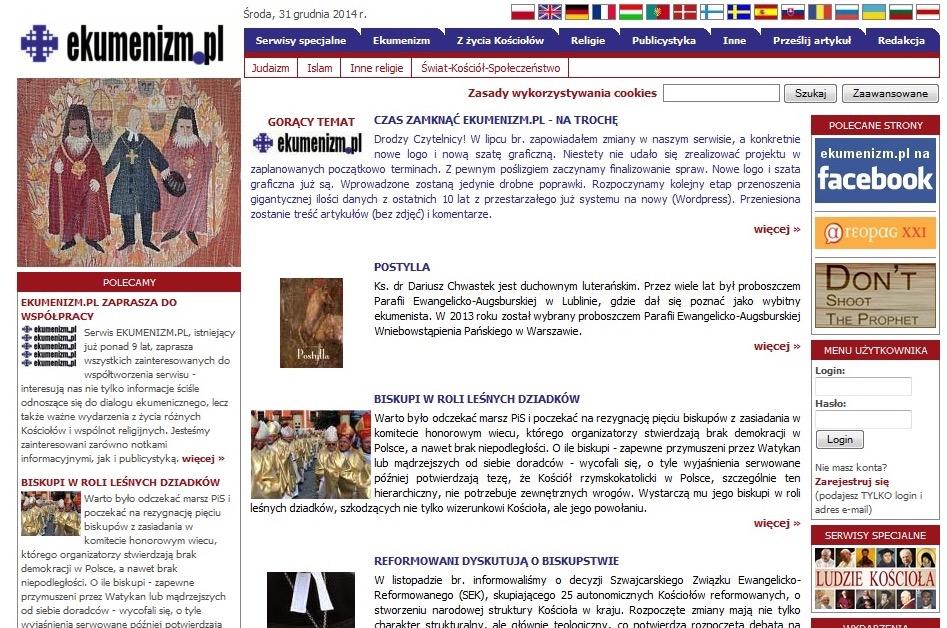 Stara strona Ekumenizm.pl
