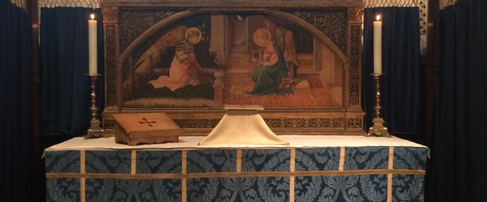 ołtarz w kaplicy Zwiastowania w katedrze anglikańskiej Southwark (Londyn)