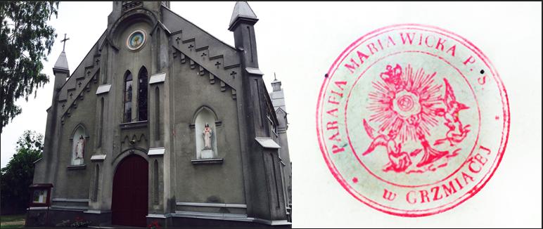 kościół w Grzmiącej i historyczna pieczęć