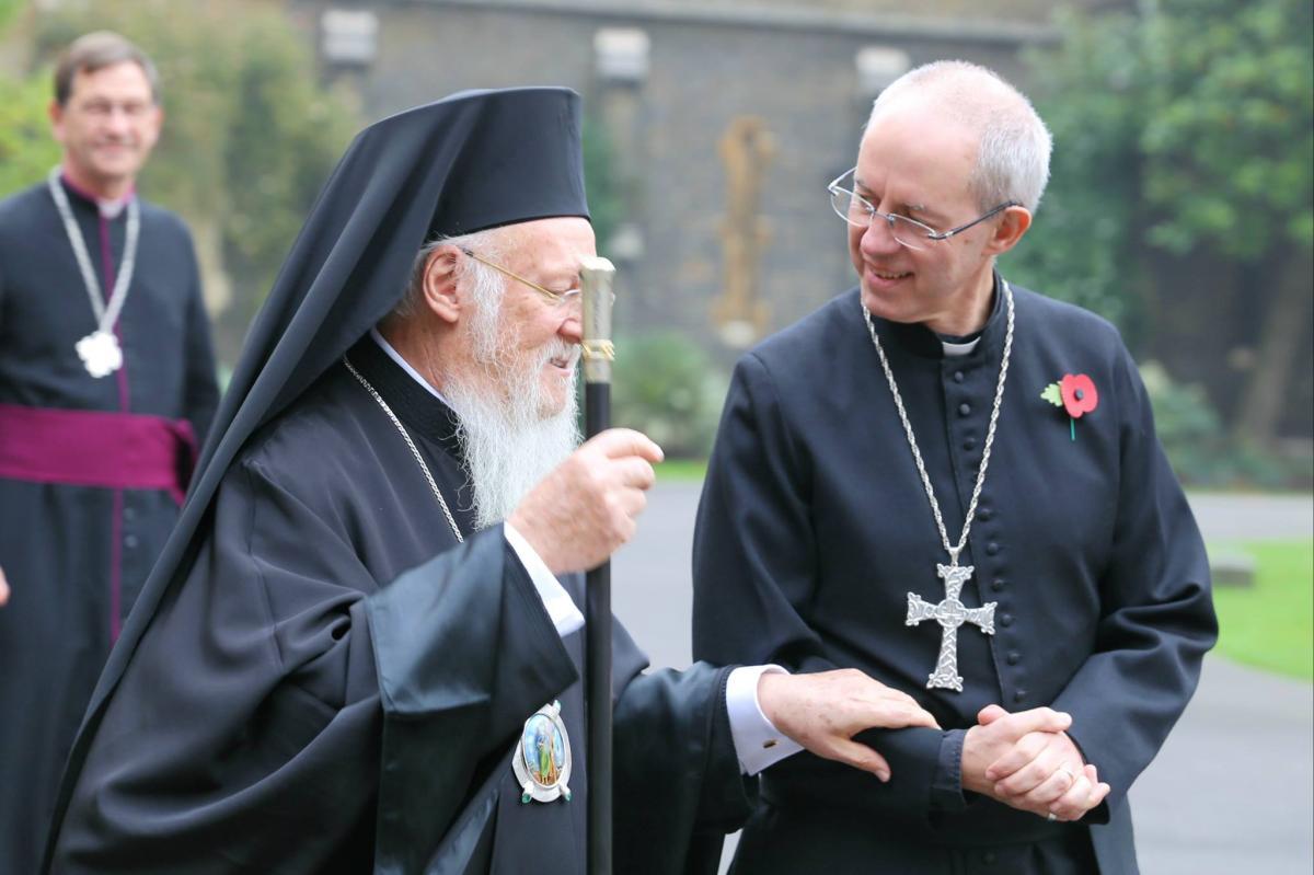 Patriarcha Bartłomiej I i abp Justin Welby