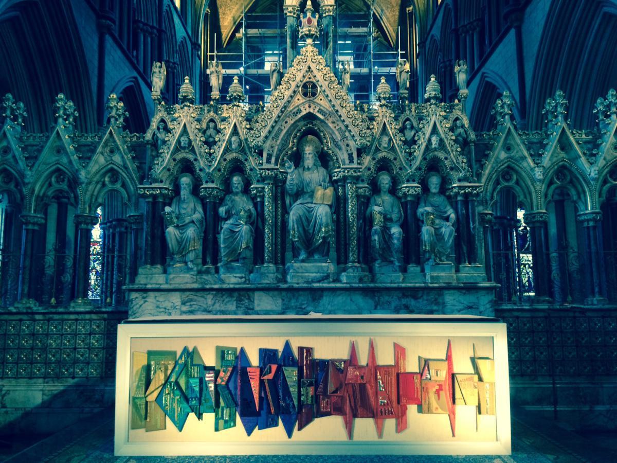 ołtarz w anglikańskiej katedrze w Worcester