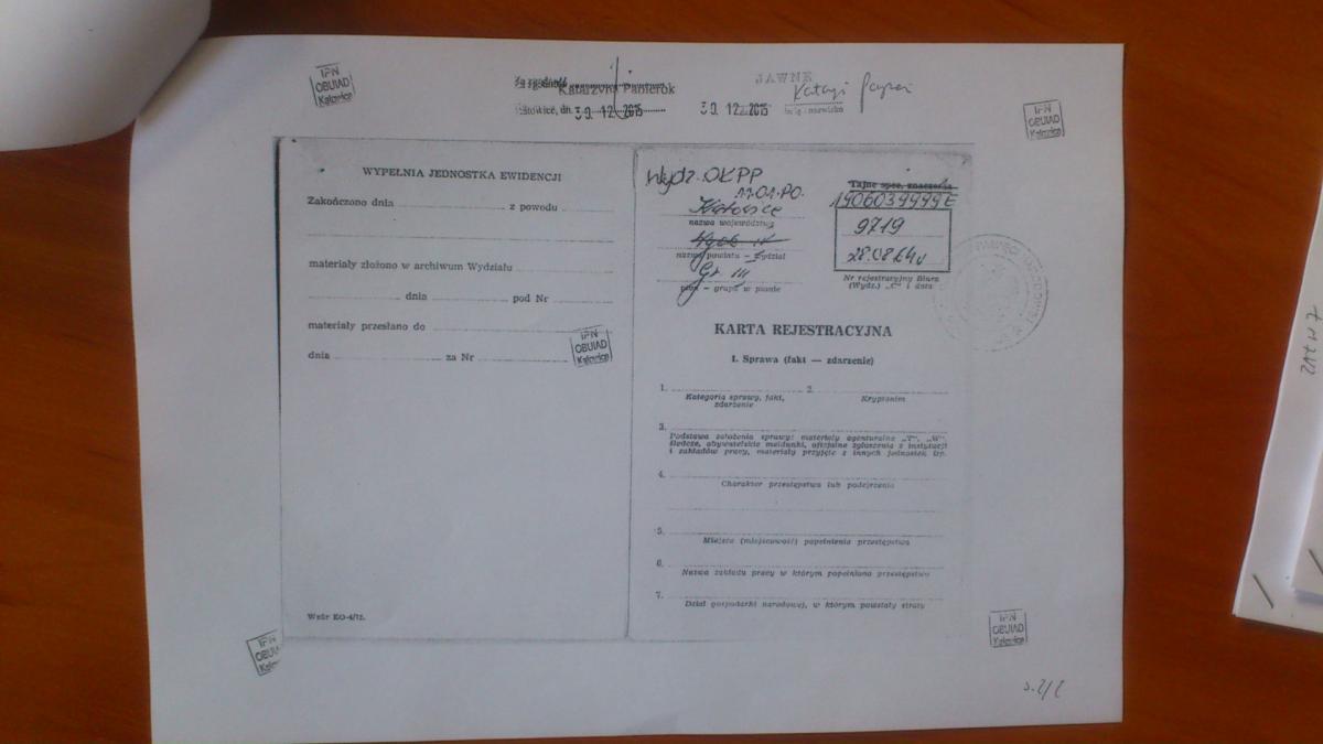 karta rejestracyjna