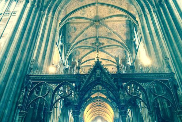 wnętrze anglikańskiej katedry w Worcester