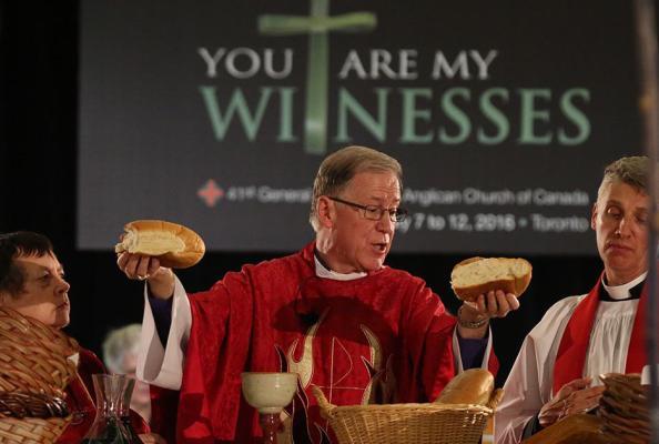 nabożeństwo inaugurujące Synod Generalny Anglikańskiego Kościoła Kanady - Eucharystii przewodniczył  prymas Kościoła, abp Fred Hiltz
