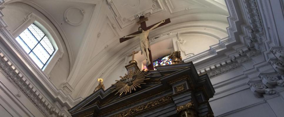 najstarszy krzyż w Krakowie znajdujący się w kościele ewangelicko-augsburskim św. Marcina przy ul. Grodzkiej