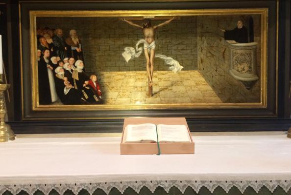 ołtarz reformacyjny w Kościele Miejskim w Wittenberdze