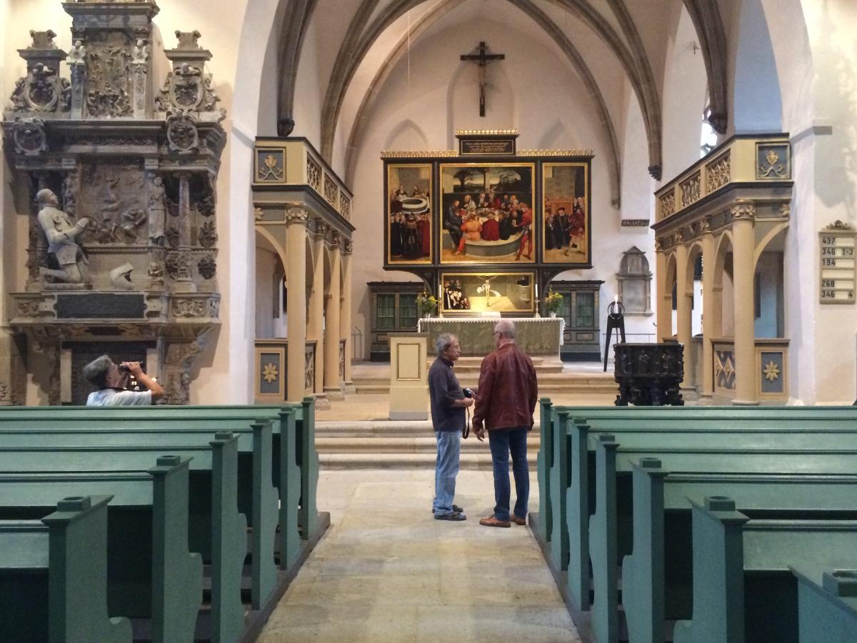 wnętrze Kościoła Miejskiego w Wittenberdze