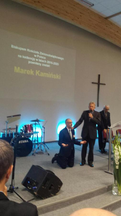 bp Marek Kamiński wprowadzany w urząd bpa na kolejna kadencję