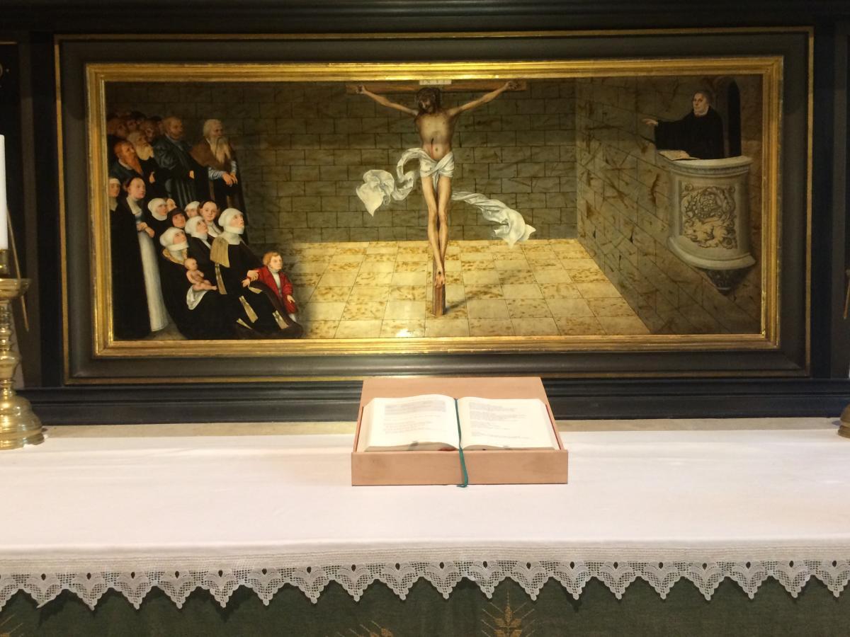 predella w ołtarzu reformacyjnym w Wittenberdze