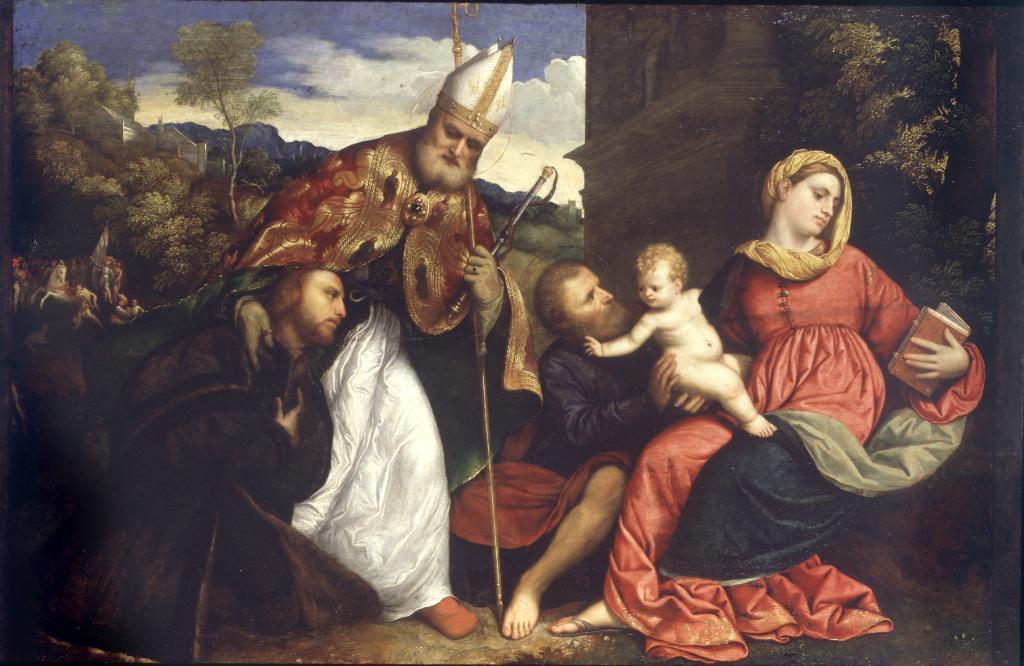 Święta Rodzina ze św. Ambrozym - Paris Bordon