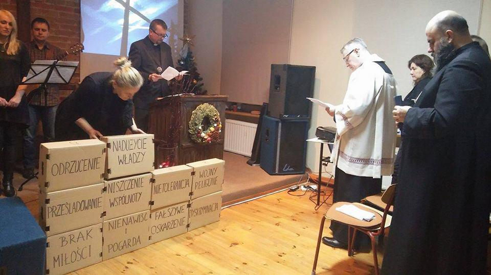 nabożeństwo ekumeniczne w kaplicy zielonoświątkowej w Świdwinie