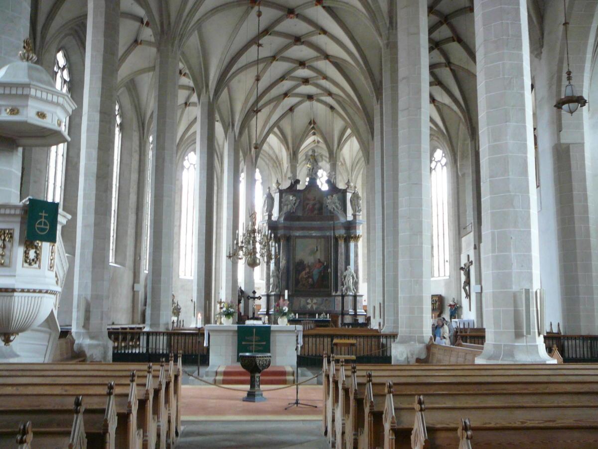 wnętrze katedry św. Piotra w Bautzen (Budziszyn)