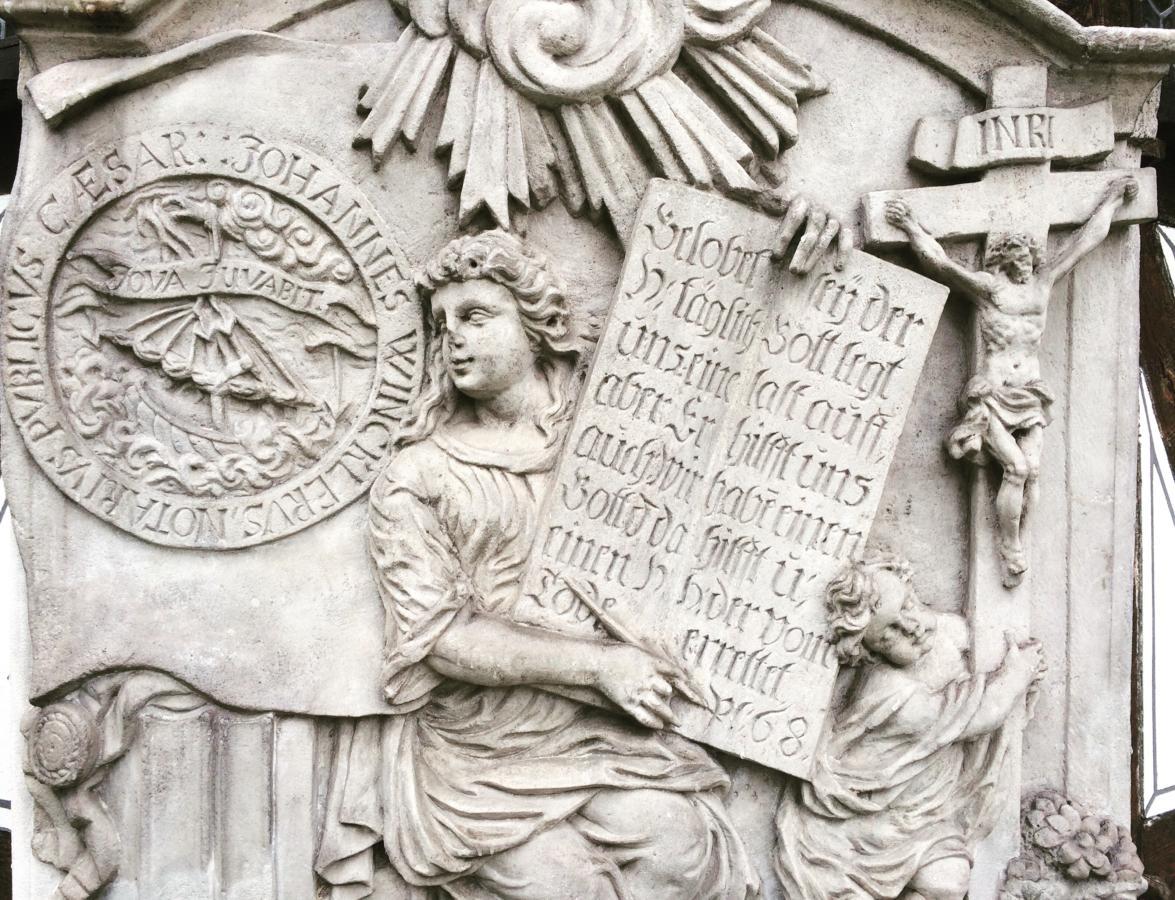 płaskorzeźba przy Kościele Pokoju w Świdnicy