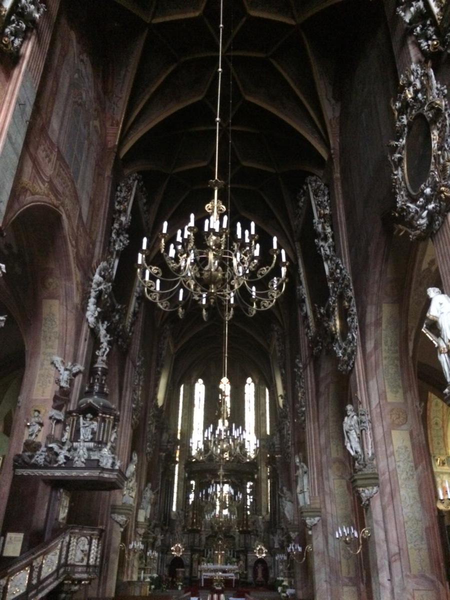wnętrze rzymskokatolickiej katedry świdnickiej