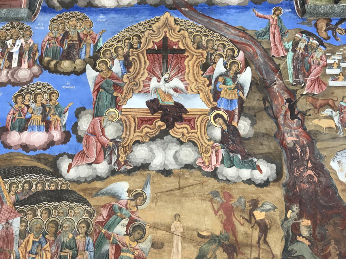 freski w klasztorze rylskim (Bułgaria)