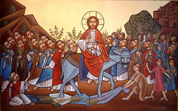 koptyjska ikona Niedzieli Palmowej