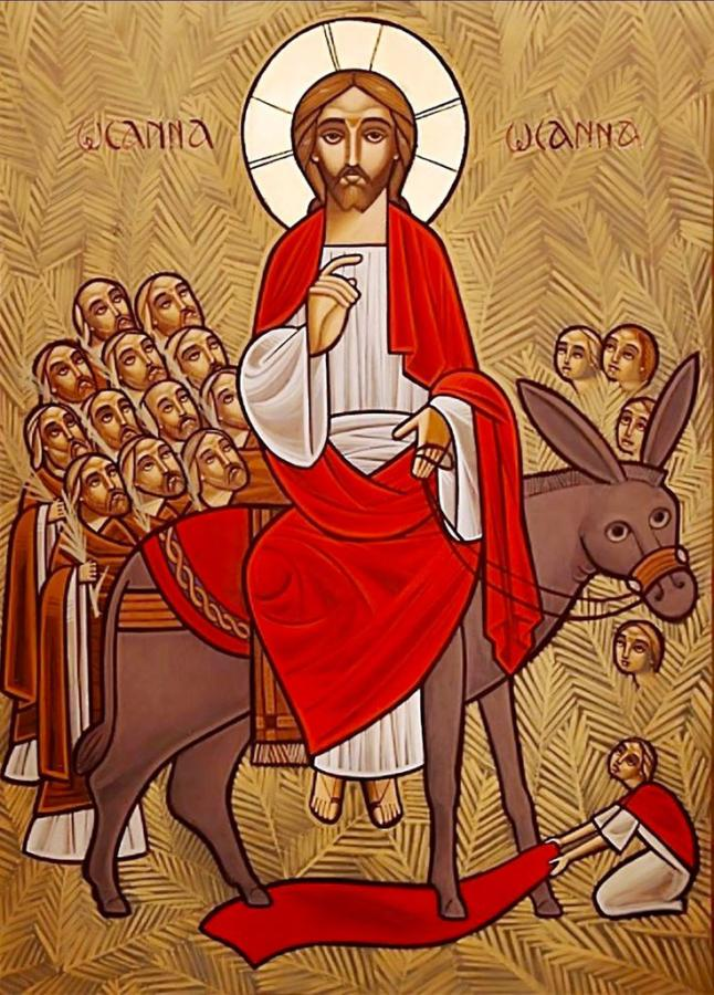 ikona koptyjska - wjazd Chrystusa do Jer-1