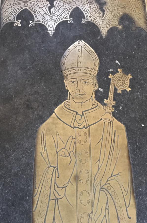 grób biskupa Lincoln w lokalnej katedrze