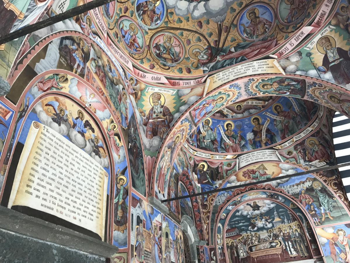 freski w monasterze rilskim (Bułgaria)