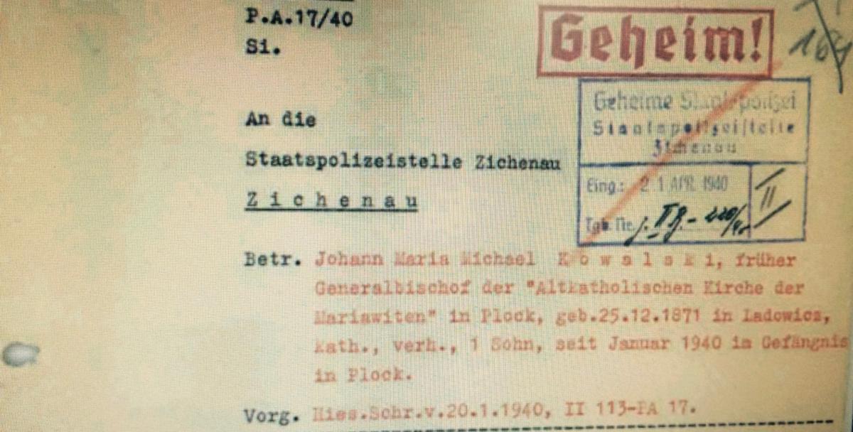 pismo ws. abp. Kowalskiego