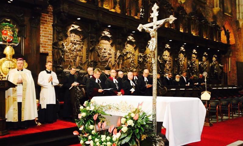duchowni uczestniczący w nabożeństwie ekumenicznym