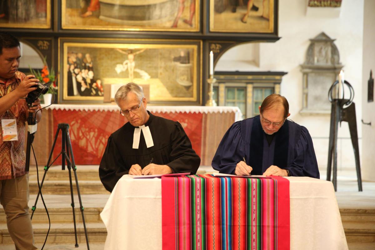 podpisanie Świadectwa wittenberskiego