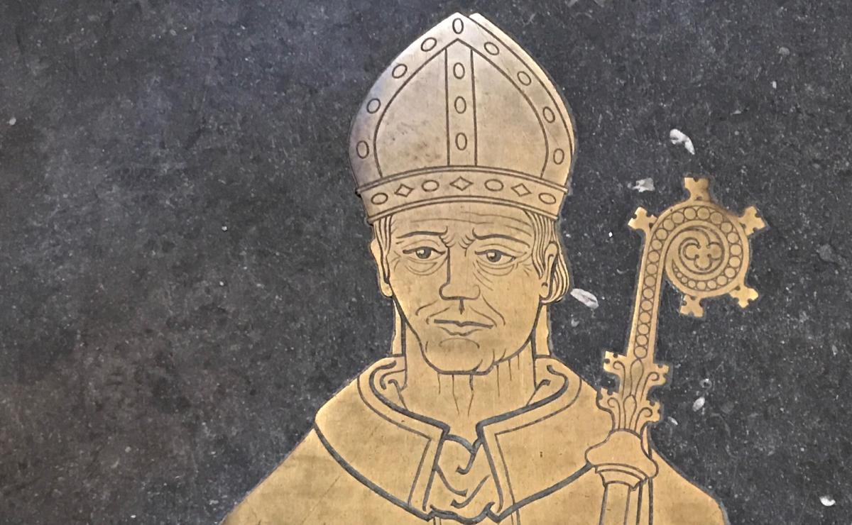 grobowiec biskupa - katedra w Lincoln
