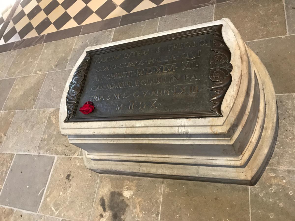 grób Lutra w Wittenberdze