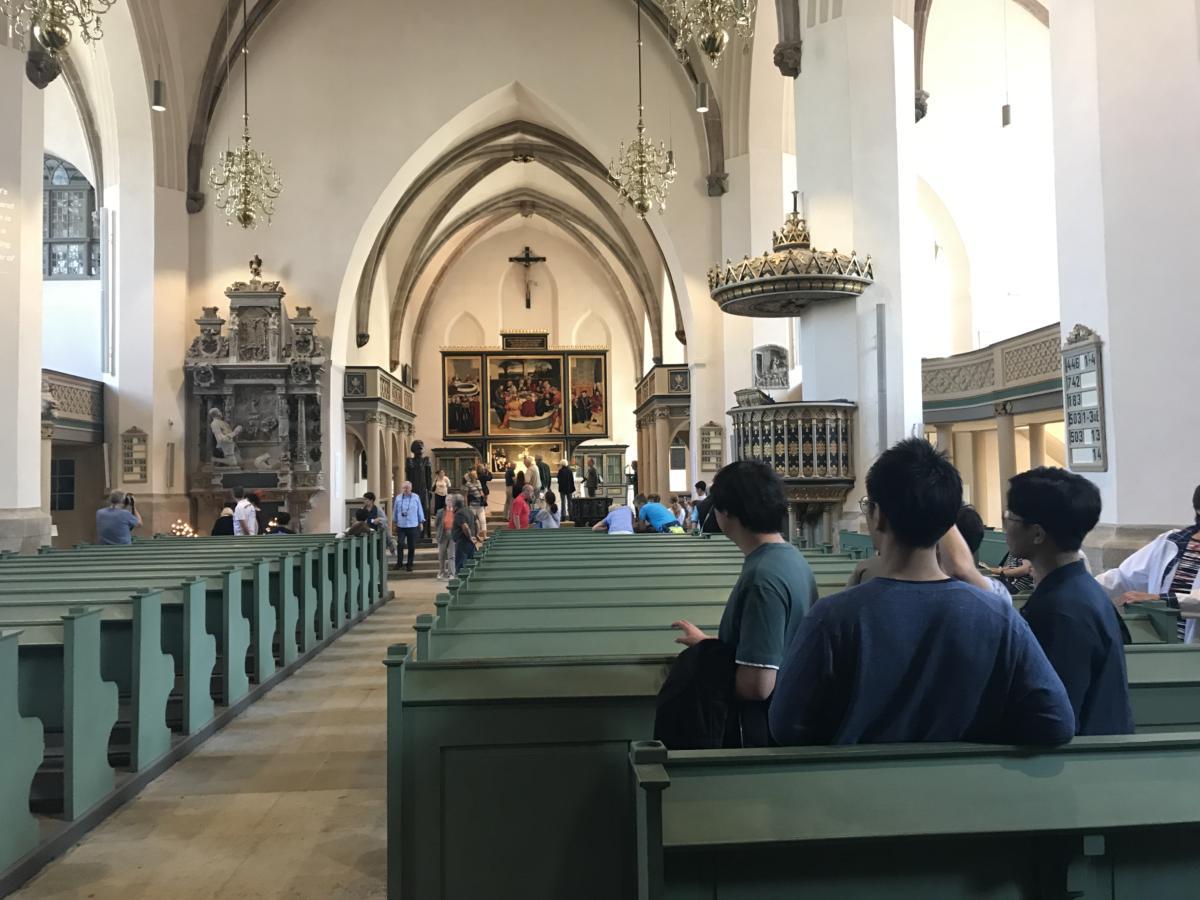 kolebka Reformacji - kościół miejski Marii Panny w Wittenberdze