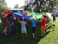 Zabawa z dziećmi w Gotesti