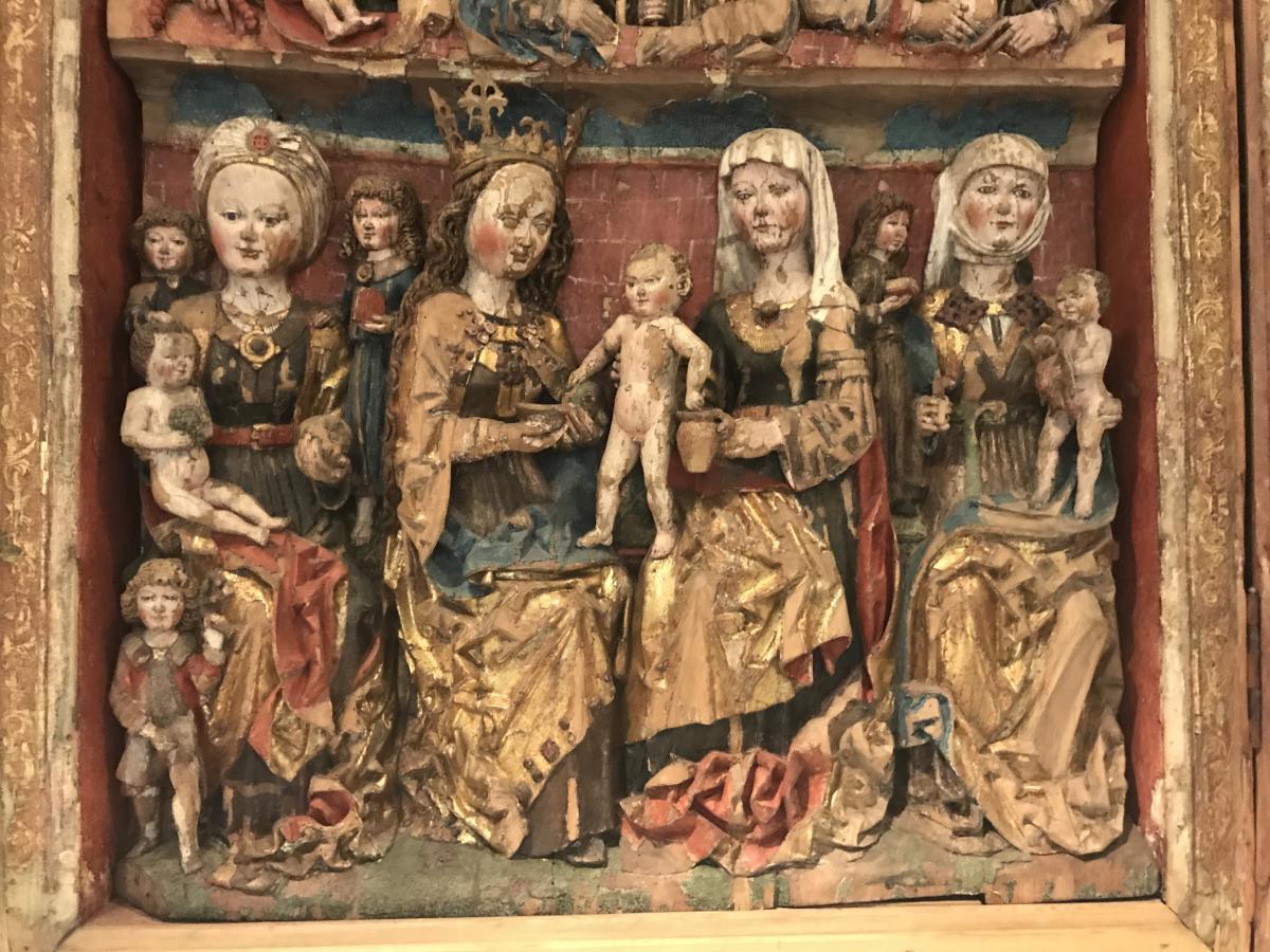 ołtarz z Marią i kanonizowanymi kobietami | Muzeum w Toruniu