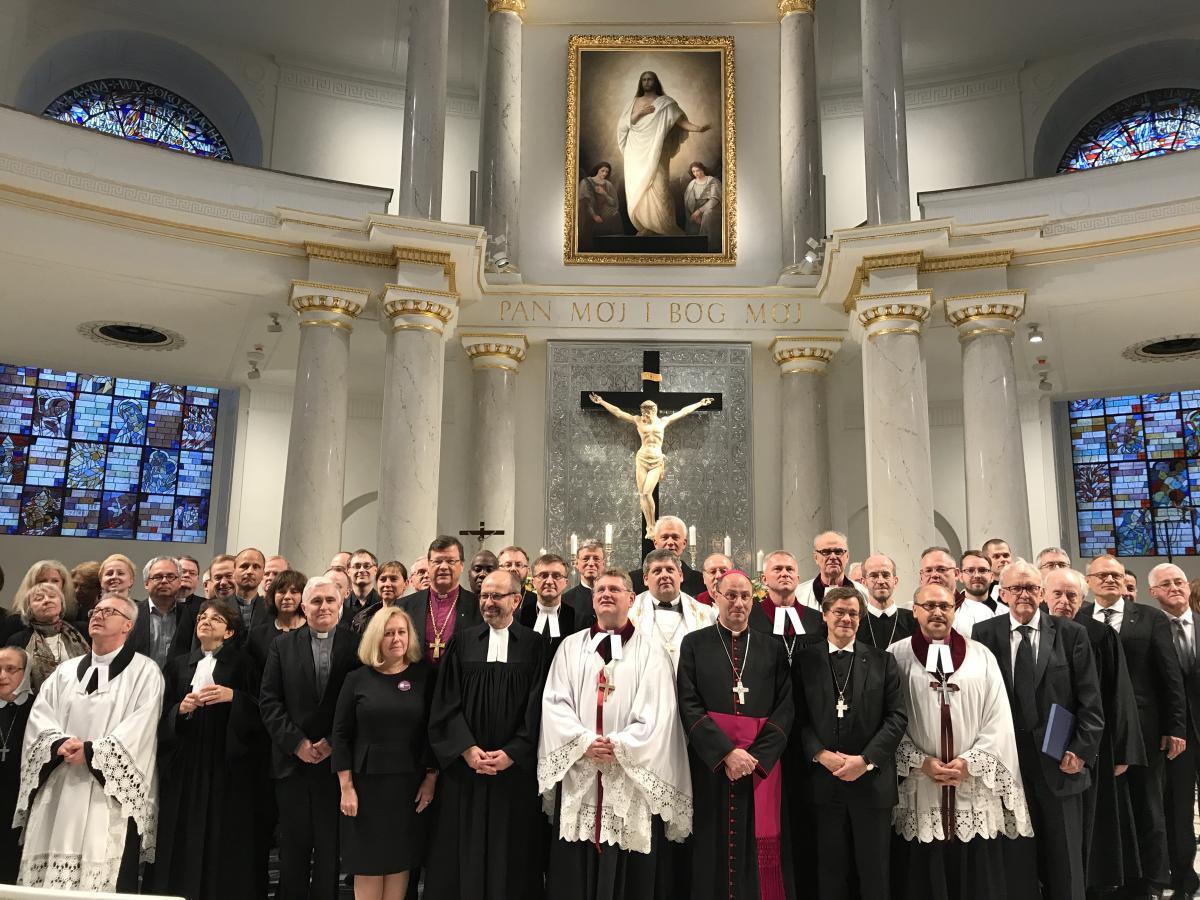 Centralne Nabożeństwo Reformacyjne z okazji 500 lat reformacji w kościele ewangelicko-augsburskim Świętej Trójcy w Warszawie