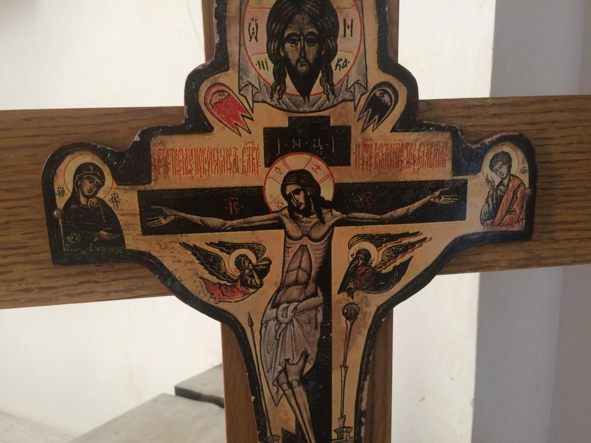 krzyż z serbskiej cerkwi prawosławnej w Belgradzie