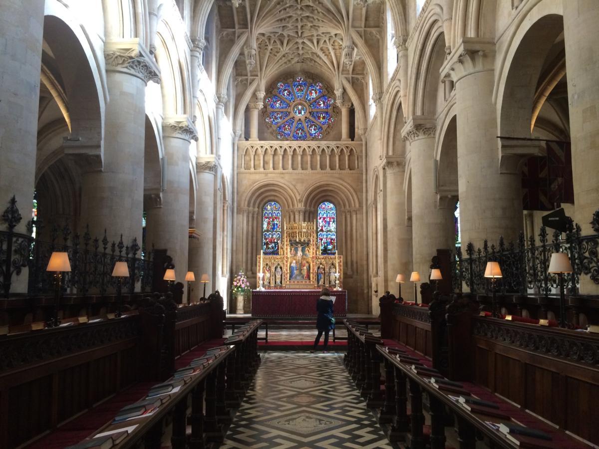 prezbiterium w anglikańskiej Katedrze Chrystusa w Oksfordzie