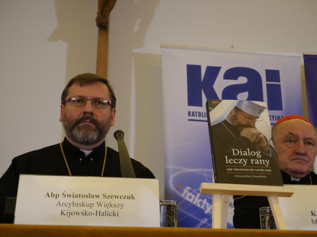 abp Światosław Szewczuk i kard. Kazimierz Nycz