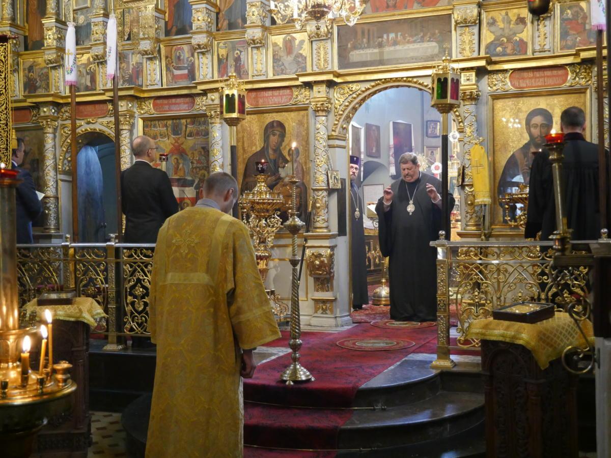 Ekumeniczne nieszpory w katedrze prawosławnej Przemienienia Pańskiego w Lublinie - błogosławi abp Abel (Popławski)