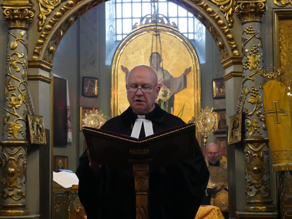 Ekumeniczne nieszpory w katedrze prawosławnej Przemienienia Pańskiego w Lublinie - bp Marek Izdebski