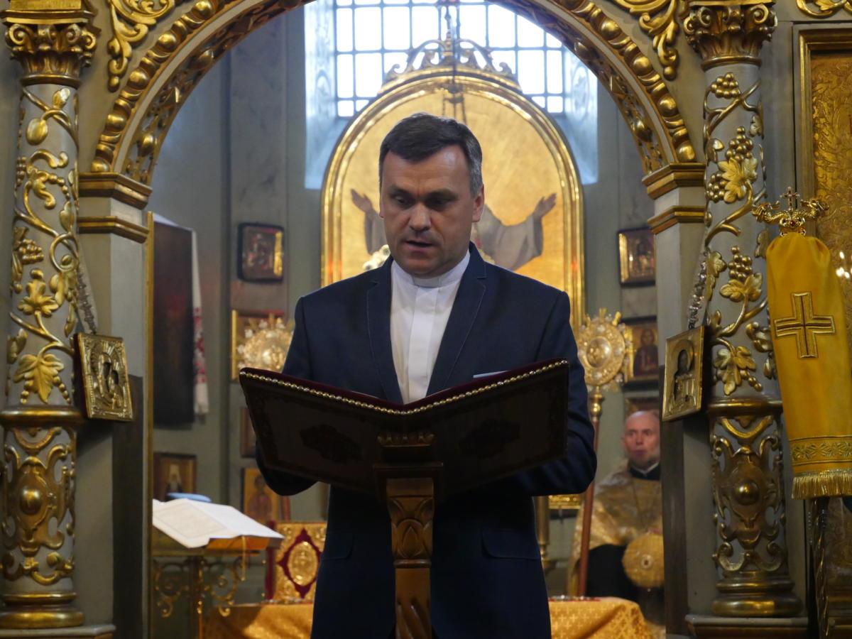 Ekumeniczne nieszpory w katedrze prawosławnej Przemienienia Pańskiego w Lublinie - ks. Andrzej Gontarek