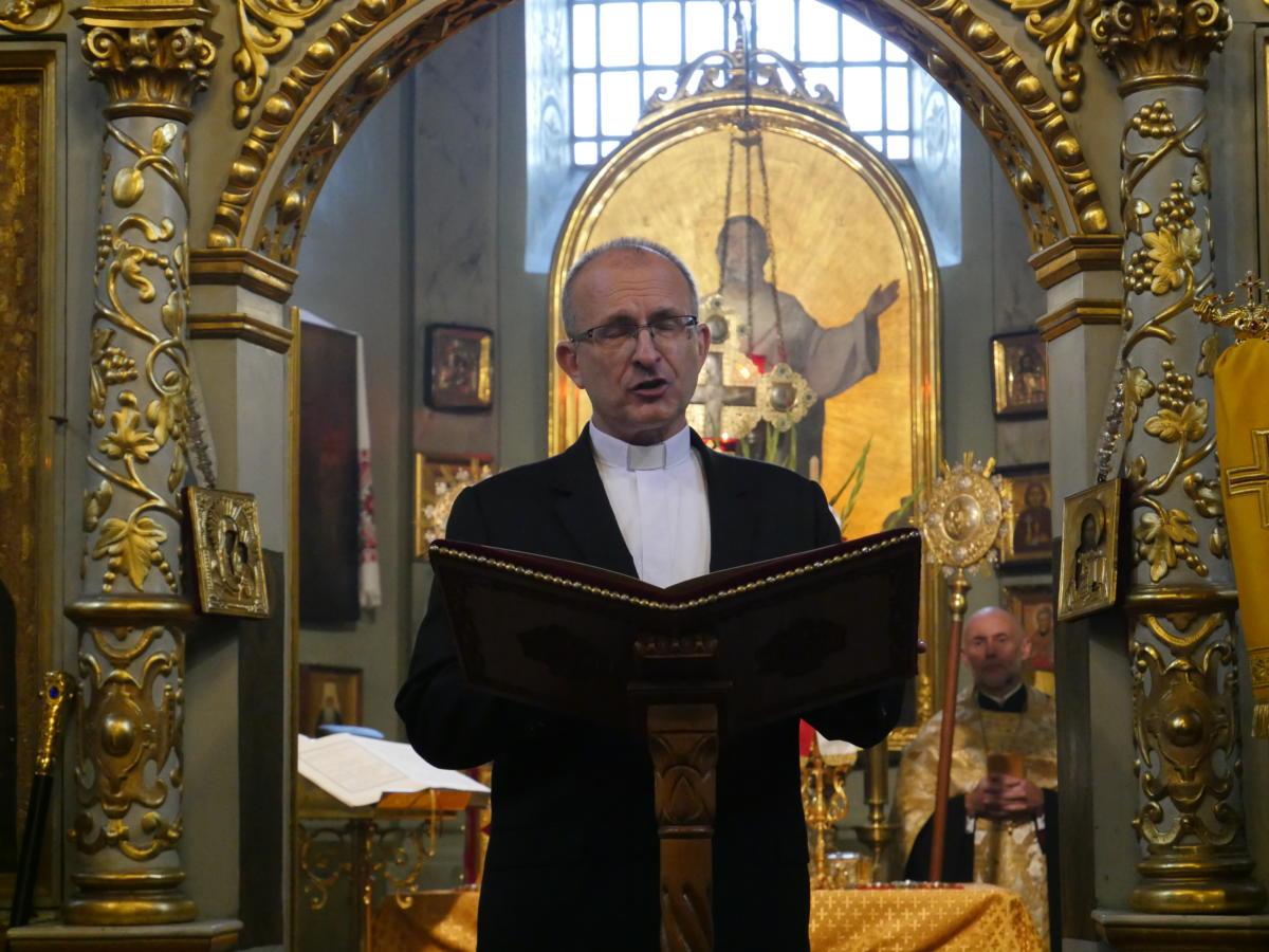 Ekumeniczne nieszpory w katedrze prawosławnej Przemienienia Pańskiego w Lublinie - ks. prof. Sławomir Pawłowski