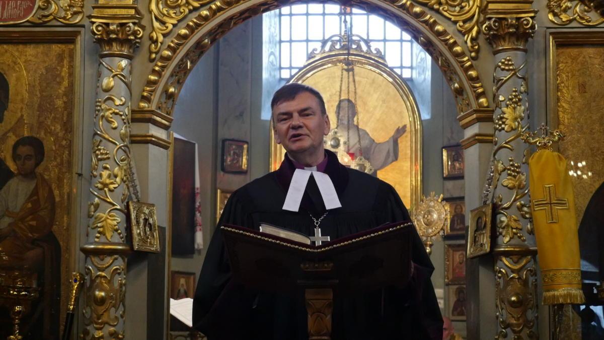 Ekumeniczne nieszpory w katedrze prawosławnej Przemienienia Pańskiego w Lublinie - bp Paweł Hause