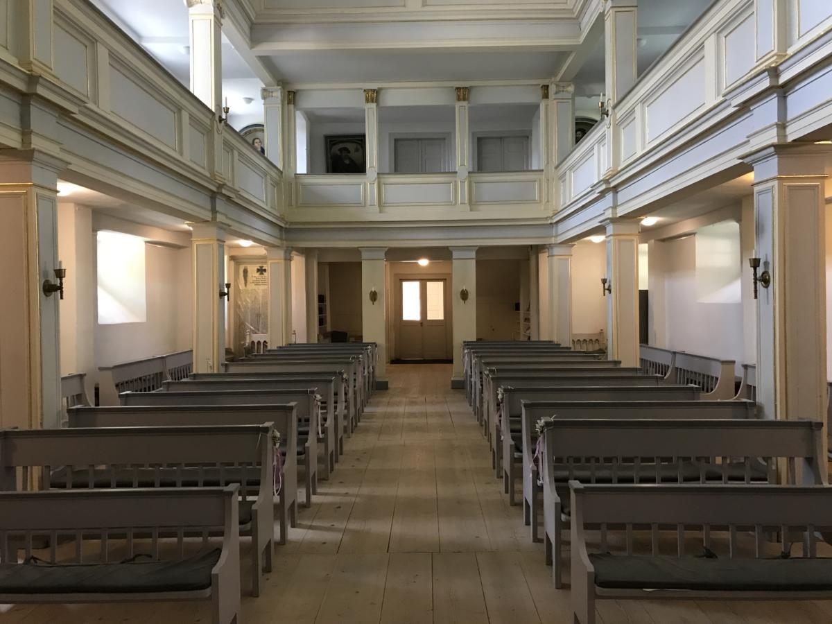 wnętrze ewangelickiego kościoła św. Jakuba w Weimarze