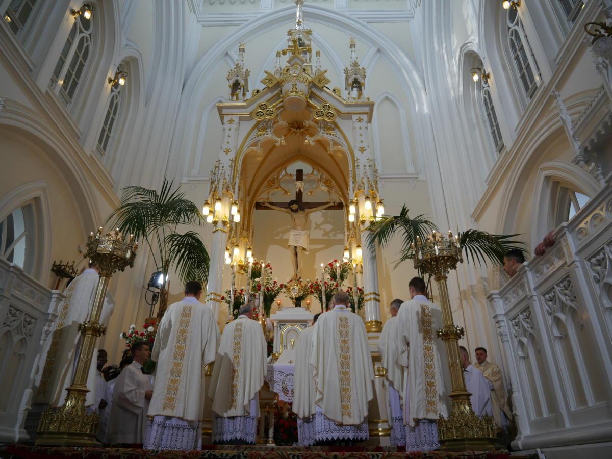 Msza Święta w Świątyni
