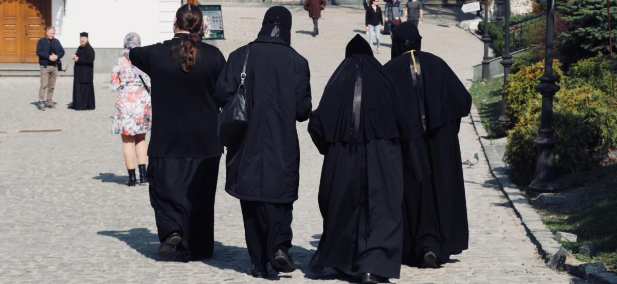 Mnich i mniszki w Ławrze Peczerskiej