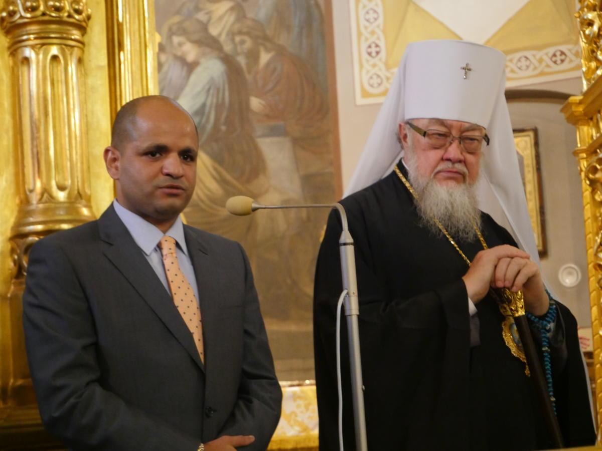Przedstawiciel Ambasady Egiptu w Polsce i metropolita Sawa (Hrycuniak)