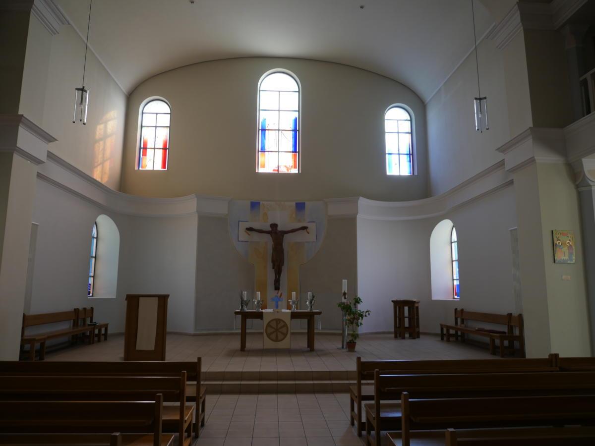 wnętrze kościoła luterańskiego św. Katarzyny w Kijowie