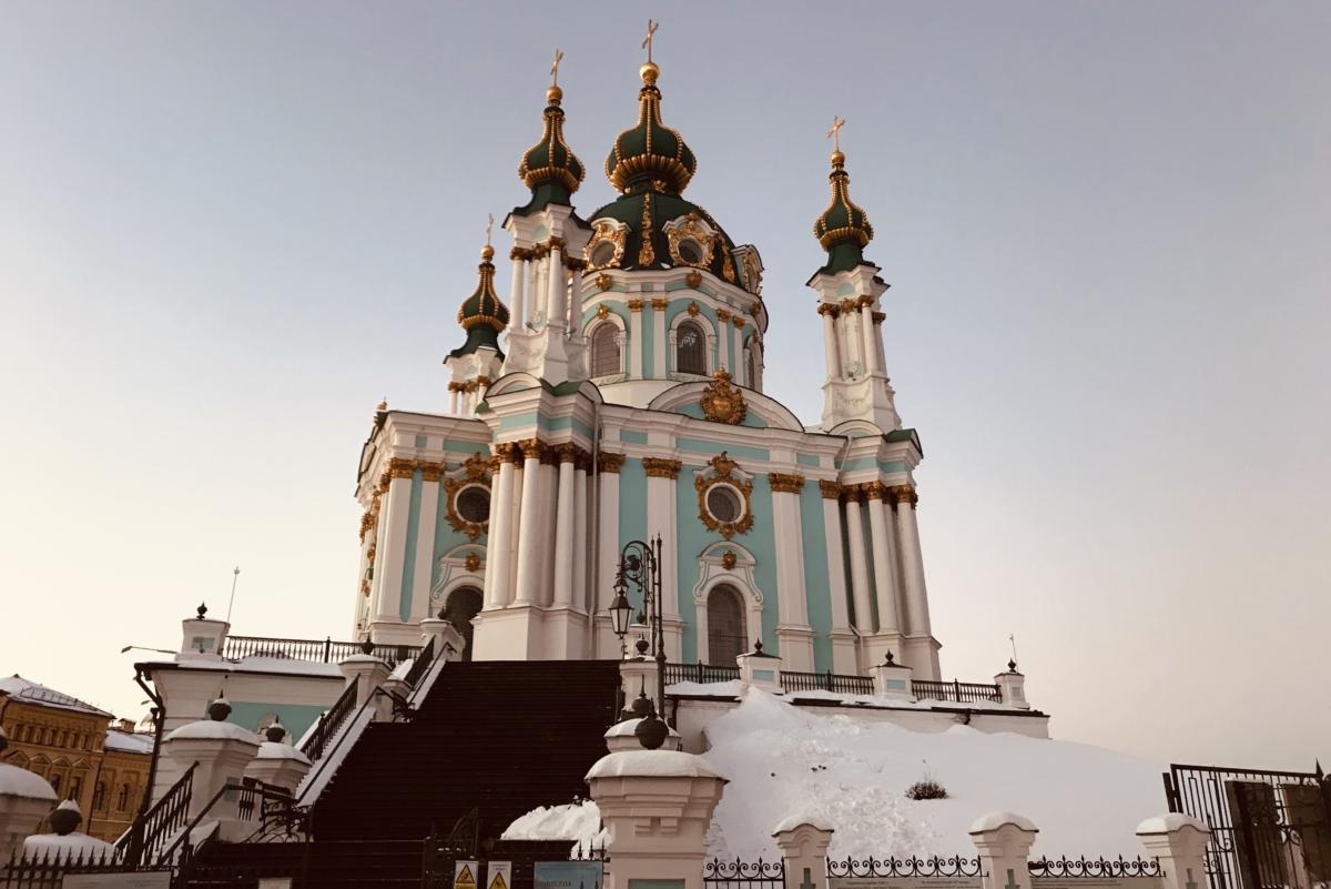 cerkiew św. Andreja - stauropigia Patriarchatu Konstantynopolitańskiego w Kijowie