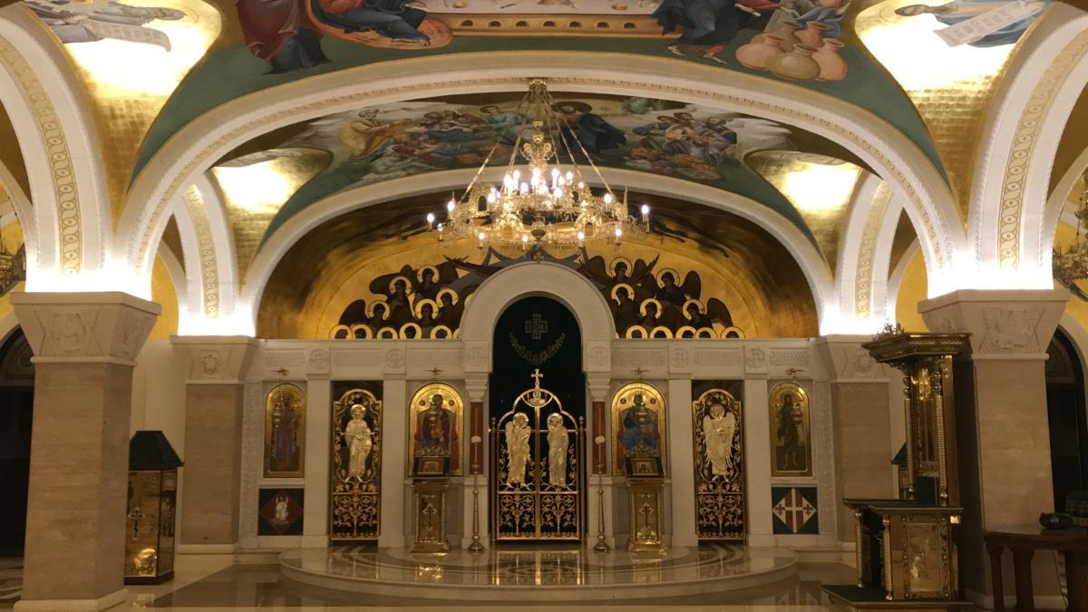 freski w kaplicy dolnej w Soborze św. Sawy w Belgradzie