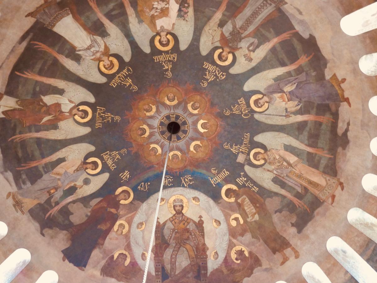 freski w ukraińskiej cerkwi