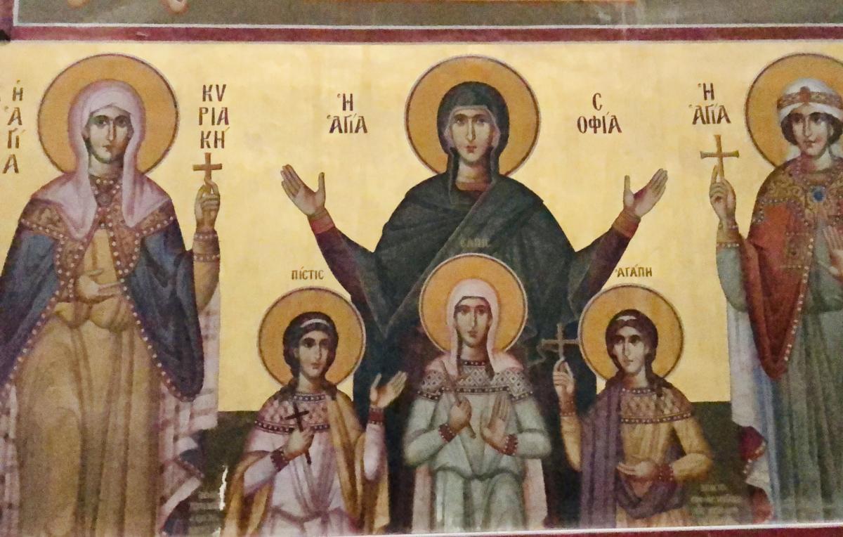 freski z cerkwi św. Konstantyna w Atenach