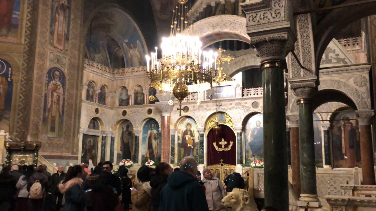 wnętrze patriarszego soboru św. Aleksandra Newskiego w Sofii